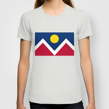 Denver (Colorado) city flag - Authentic version T-shirt by LonestarDesigns2020 - Flags Designs + | Society6
