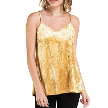 Crushed Velvet Cami Tank Top