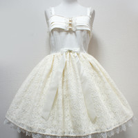 Little Lady Jumperskirt - Ivory [142J5-2883-iv] - $270.00 : Angelic Pretty USA