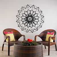 Mandala Wall Decal Yoga Studio Vinyl Sticker Decals Ornament Moroccan Pattern Namaste Lotus Flower Home Decor Boho Bohemian Bedroom Art  T51
