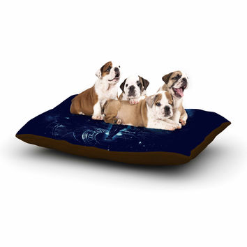 """Frederic Levy-Hadida """"Time Traveller"""" Blue Fantasy Dog Bed"""