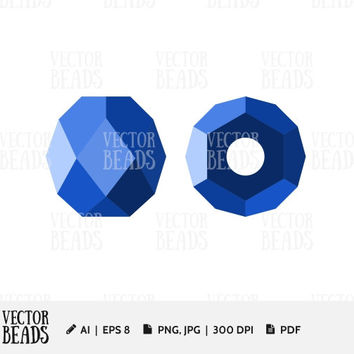 Simple vector illustration of Fire Polished Bead. Bead Vector Graphic - Ai, Eps, Pdf, Jpg, Png