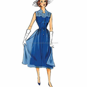 Retro Dress Pattern, New Butterick 5920 sizes 6 to 14, 1950s Dress Pattern, Retro Pattern, Mid Century Clothing, Hostess Dress