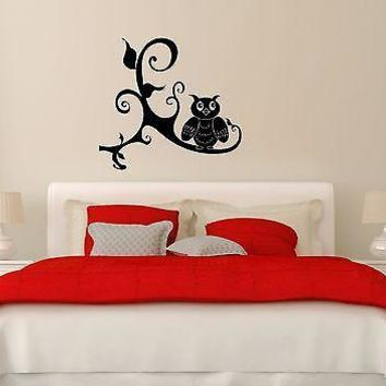 Wall Stickers Vinyl Decal Decor For Bedrooms Owl Bird Unique Gift (ig637)