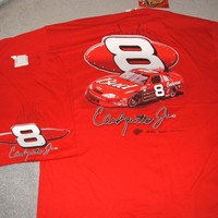 Dale Earnhardt Jr. #8 BUD Chevy on a XXL new RED tee shirt w/tags