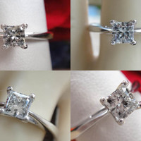 0.43ct Princess Cut Diamond Engagement Ring IGI Certified