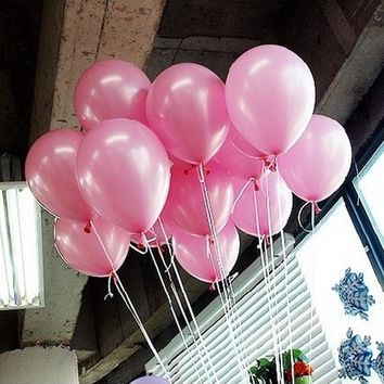 50Pcs Pink 10inch 21 colors Pearl Latex Helium Balloons Inflatable Wedding Balloons Children Birthday Party Decoration Air Balls