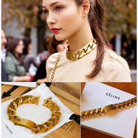 Indie Designs Celine Style Chain Gold Necklace