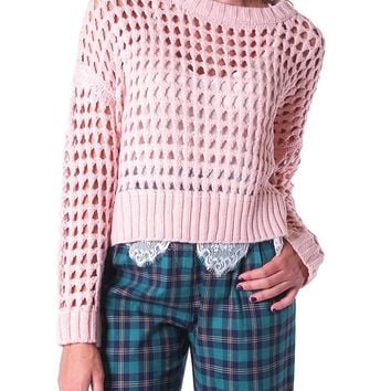 Seen By You Sweater Top - Pink