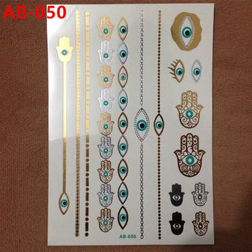Body painting gold hot designs flash gold tattoo jewelry nail tools large temporary tattoos arabic Indian tatoo stickers
