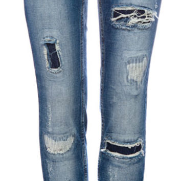 RIPPED AND DARNED SKINNY JEANS WITH PATCHES - JEANS - WOMAN -  PULL&BEAR United Kingdom
