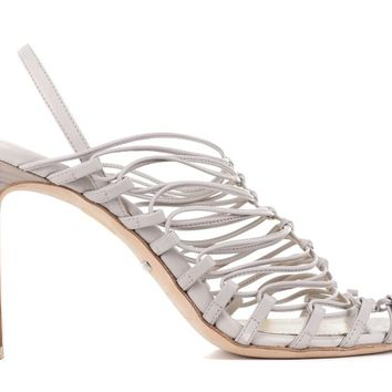 Roberto Cavalli Womens Ivory Leather Strappy Sandal Pumps d2123aad7cb6