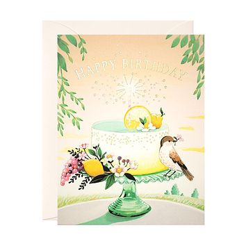 Lemon Cake Birthday Card