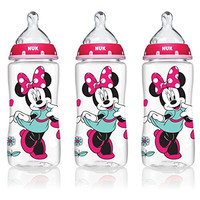 NUK 62048 Disney Baby Bottle with Perfect Fit Nipple, Minnie Mouse, 10 Ounces, 3 Pack