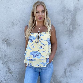 Summer Bloom Floral Layered Top