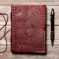 PRE ORDER Zodiac Sun Handmade Leather Journal