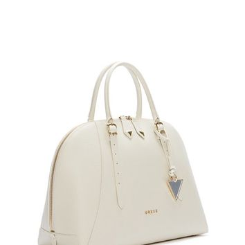 Lady Luxe Leather Dome Satchel | GUESS.com