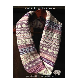 Fair Isle Cowl - PDF KNITTING PATTERN