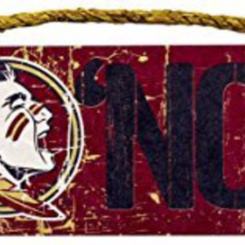 "NCAA Florida State Seminoles 16"" x 4"" Slogan Wood Sign"