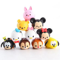 10PCS / Lot Cartoon Tsum Tsum Toy Mini 2-3cm Animal Kids Children Action Figure Boy Girl Birthday Christmas Gift