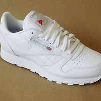 Reebok Mens Classic Leather Casual Shoes Sneakers New White