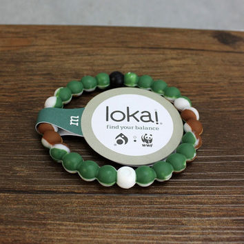 Lokai Bracelet for a balanced life (Army Green)