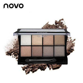 NOVO 8 Colors Eyeshadow Eye Makeup Art mineral Shimmer Eye Shadow Make up Pallete Smoky makeup Peach makeup Cosmetics For Women