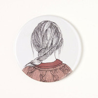 Girl with braid - Pocket mirror