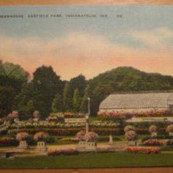 Vintage Gardens And Greenhouse Garfield Park Indianapolis Indiana Postcard