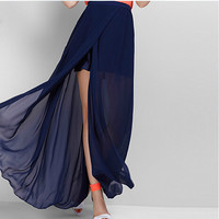 2016 Spring and Summer England style women sexy long skirts,vestidos femininos party Split skirts,PLUS SIZE Maxi Skirt M-3XL