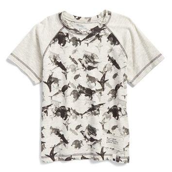 Boy's Lucky Brand 'Wild' Raglan Graphic T-Shirt,