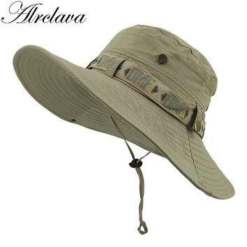 Outdoor Men Bucket Hat Casquette Gvroche Summer Fisherman Cap Fishing visor UV protection Hiking Beanie Resistal Hats Bob