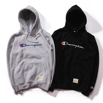 One-nice™ Champion Fashion Embroidery Logo Hooded Sport Top Sweater Sweatshirt Hoodie