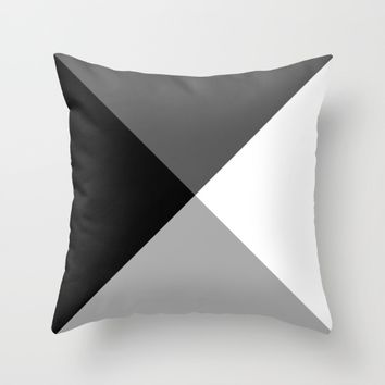 #29 Triangles Throw Pillow by Minimalist Forms