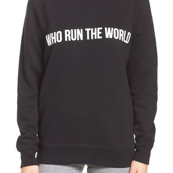 BRUNETTE Who Run the World Sweatshirt | Nordstrom