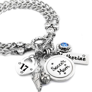 Soccer Sports Mom Charm Bracelet