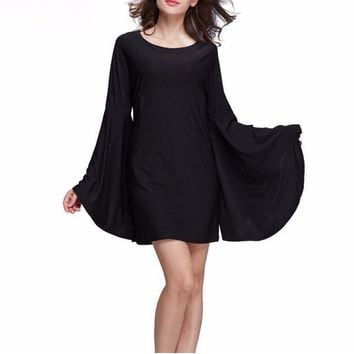 Doom Witch Mini Dress with Flared Sleeves