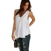 Sale-white Stick To The Basics Tank