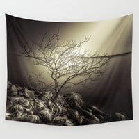 The burning bush Wall Tapestry by HappyMelvin