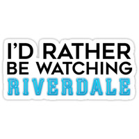 'I'd Rather Be Watching Riverdale' Sticker by Brenda Lee
