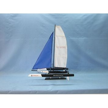 Wooden BMW Oracle Trimaran Limited Model Yacht 30""