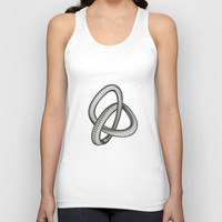 Shape 1 Unisex Tank Top by White Print Design