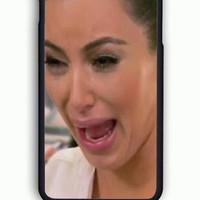 iPhone 6S Case - Hard (PC) Cover with Kim Kardashian Ugly Face Cry Plastic Case Design