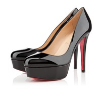 Best Online Sale Christian Louboutin Cl Bianca Black Patent Leather 120mm Stiletto Heel Classic
