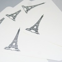 Quick Note Cards with Eiffel Tower All Occasion Set of Stationery