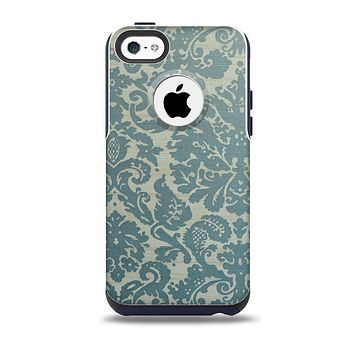The Subtle Green Lace Pattern Skin for the iPhone 5c OtterBox Commuter Case