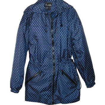 DCCKAB3 ShedRain Packable Fashion Anorak Rain Jacket Bitty Blue Dots