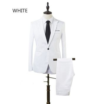 2017 High Quality Business and Leisure Suit A Two-piece Suit The Groom's Best Man Wedding 8 Colors
