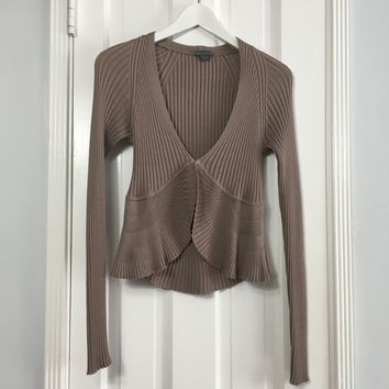 AX Armani Exchange women's taupe knit cardigan sz M