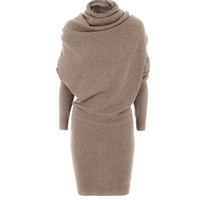 Rosetic Bodycon Dress 2017 Spring Black Turtleneck Fashion Women Dress Party Prom Gray Sexy Bat Vintage Camel Sheath Retro Dress